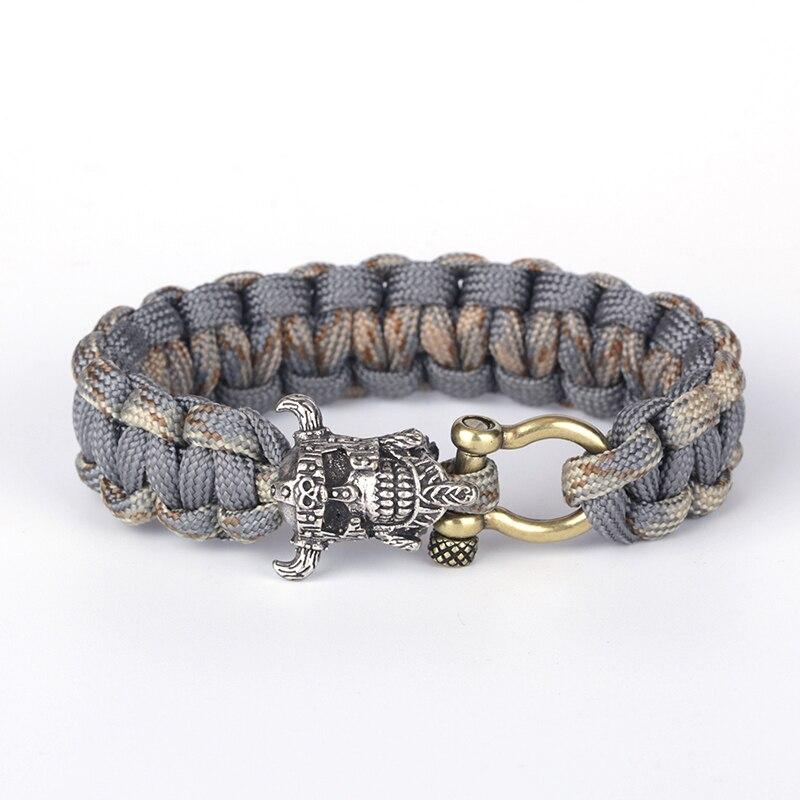 Luggage & Bags Wholesale 5pcs*7 Strand Survival Military Weave Bracelet Cord Buckle Purple