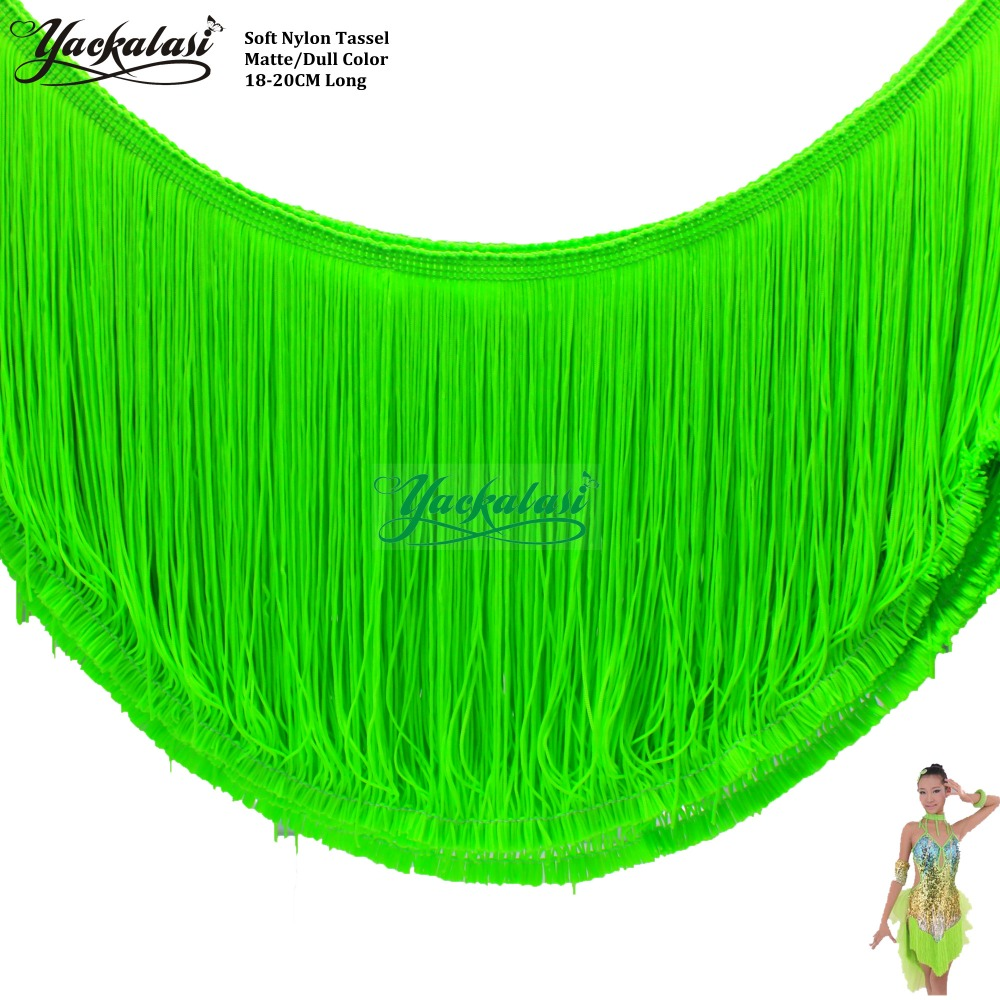 YACKALASI 5 Yards / Lot Kleid Fransen Quaste Matte Weiche Matte Farbe - Kunst, Handwerk und Nähen
