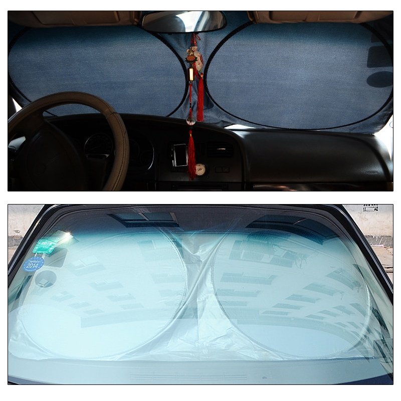 6pcs/set Car Sunshade Auto Sun Visor Folding Windshield Car Sun Shade Car Window Suction Cup Car Styling Covers Sunshade