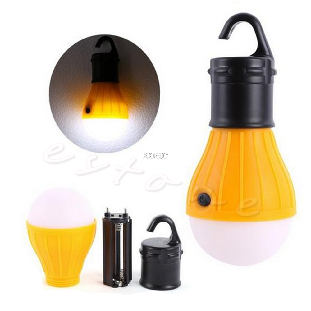 Portable Lanterns outdoor Hanging 3LED Camping Lantern Soft Light LED Camp Lights Bulb Lamp For Camping Tent Fishing M12