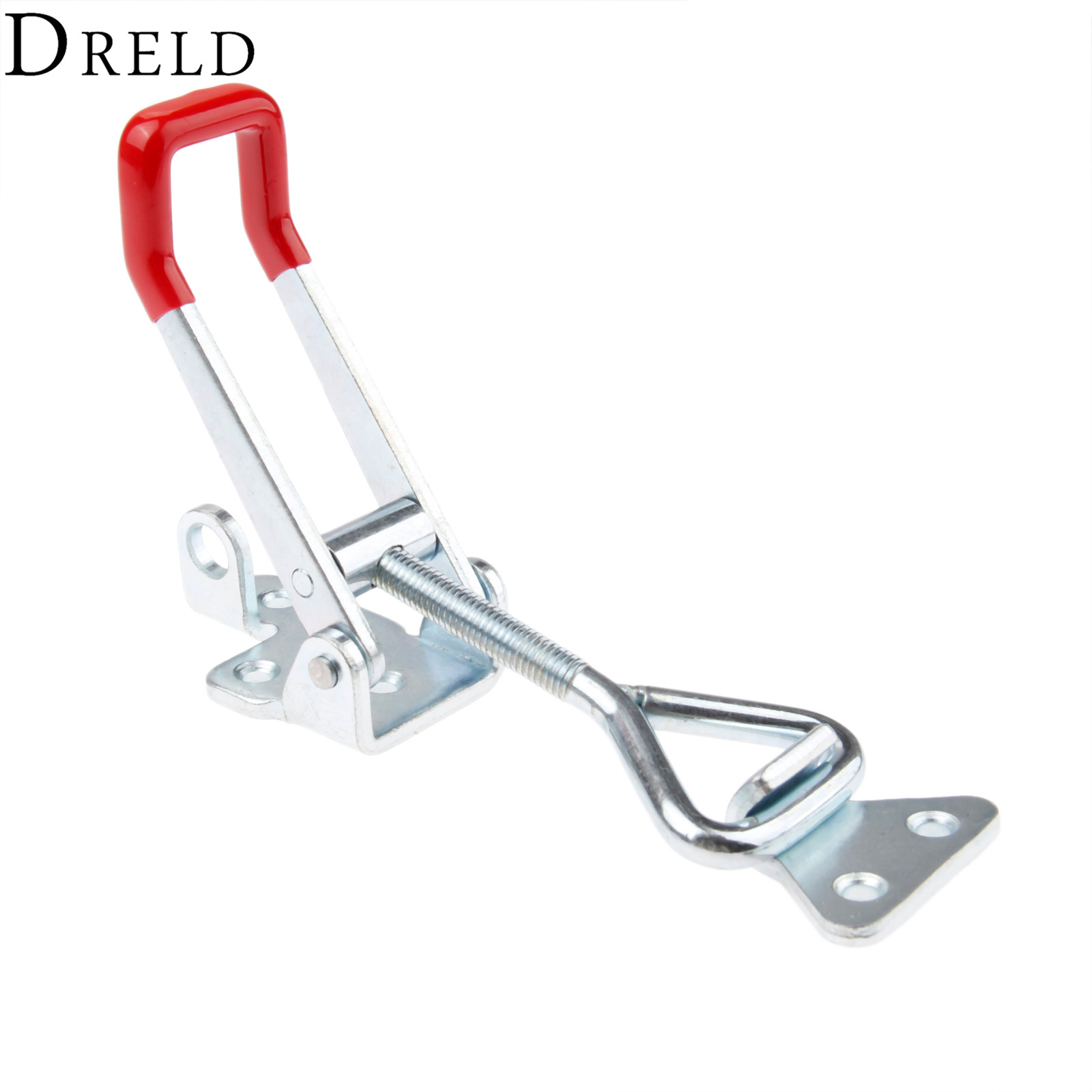 DRELD 1pc GH-4003 Parighasana Toggle Clamp Clip 300KG/661Lbs Holding Capacity Quick Metal Latch Hand Tool Fixture Clamp