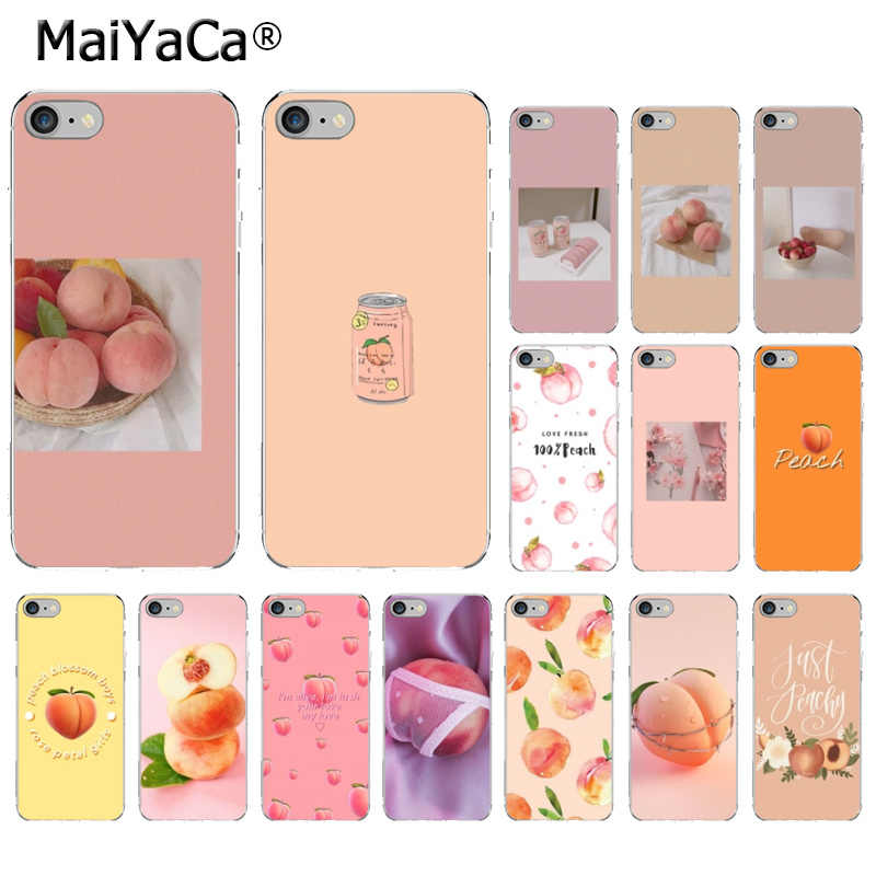 MaiYaCa voor iphone 11 pro max case Perzik Transparante TPU Zachte Siliconen Telefoon Cover voor iphone 8 7 6 6S plus 5 5S SE XR X XS MAX