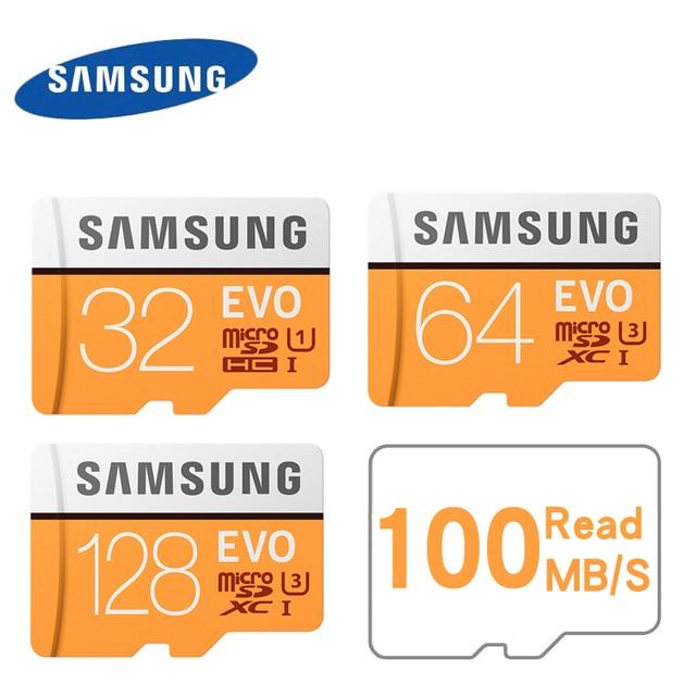 Samsung Evo + Plus 64GB  32GB 128GB SDHC GPS Card Carte Memoire C10 64GB SDXC U3 Cartao SD Smartphone Memory Flash Card Discount