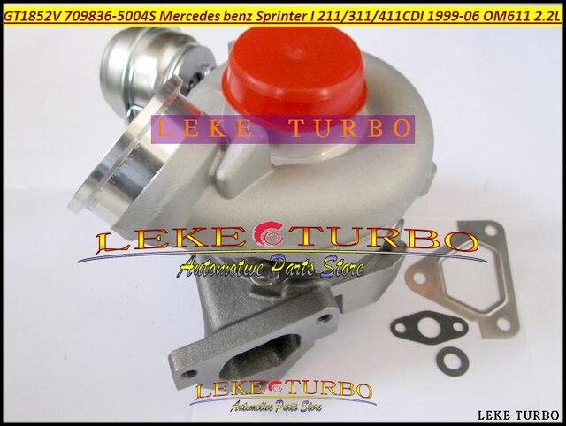 GT1852V 709836-5004S 6110960899 709836 5004S | Turbo pour Mercedes Benz Sprinter I 211CDI 311CDI 411CDI OM611, 2.2L, 141HP, livraison gratuite