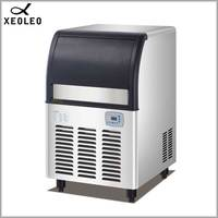 XEOLEO 65kg Cube Ice maker 130lb Commercial Ice machine Square Ice make machine Air cool 485W 220V For Milk tea shop 28kg store