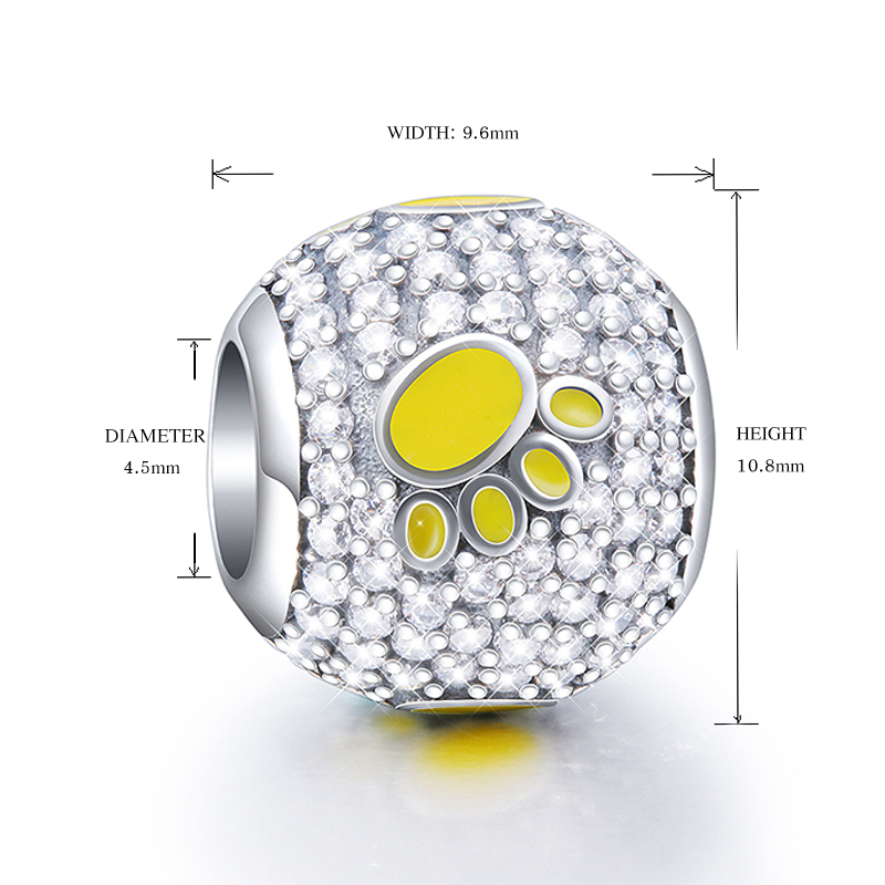 2018 Collection DIY Fit Original Pandora Charms Bracelets Jewelry Making 925 Sterling Silver Beads with my sweet pet dog paw