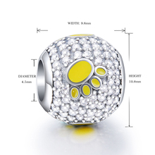 2018 Collection DIY Fit Original pandora Charms Bracelets Jewelry Making 925 Sterling Silver Beads with my sweet pet dog paw цены