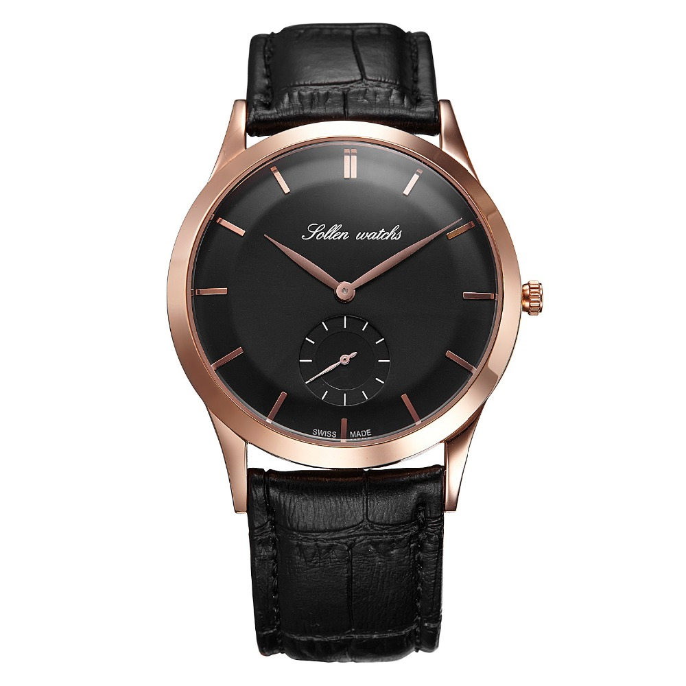 2018 Top Luxury Montre Homme Brand Watch Men Quartz Analog Watches Men Business Casual Leather WristWatch Relogio Masculino montre homme guanqin watches men sport casual leather quartz watch mens luxury top brand waterproof wristwatch relogio masculino
