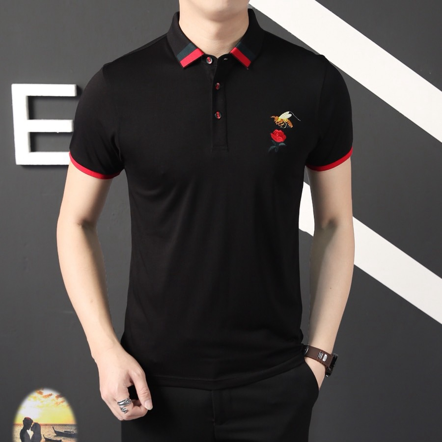 2019 clássico verão marca camisa polo de manga curta masculina  casual regular algodão luxo designer homme sólido fino polosPolo   -