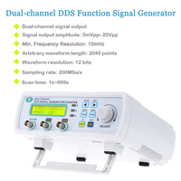 DDS 2 Channel Signal Source Generator High Precision Digital Signal Generator Arbitrary Waveform Frequency Meter 200MSa