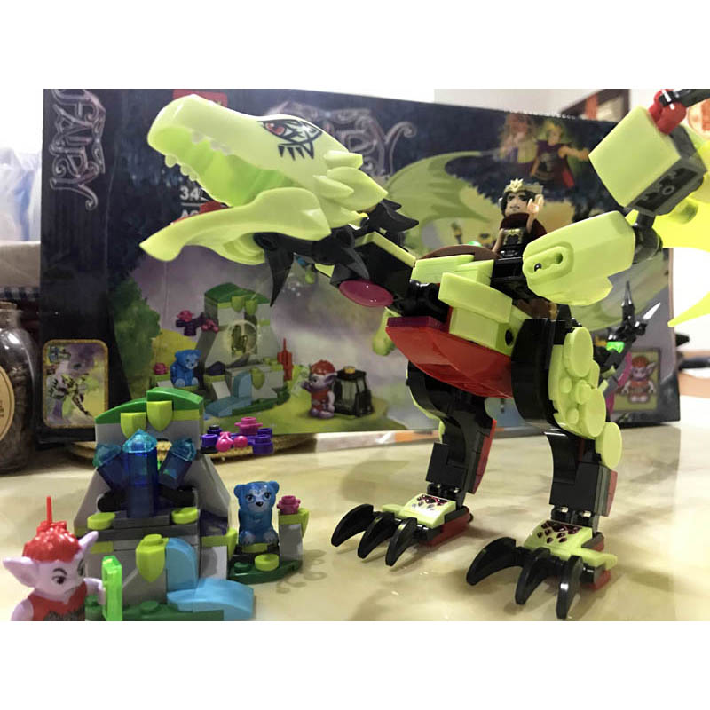 ₪2018 nuevo rey de Evil dragón Compatible Legoe elfos amigos chicas ...