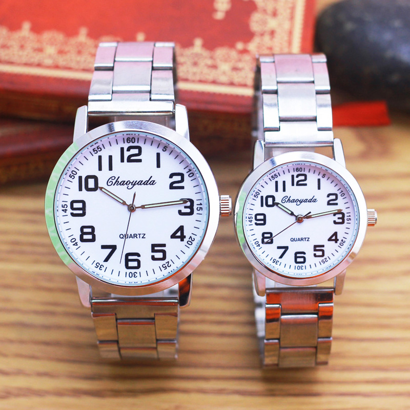 2019 Cyd New Style High Quality Women Men Stainless Steel Quartz Wristwatches Clear Digital Couple Fashion Watches Religious