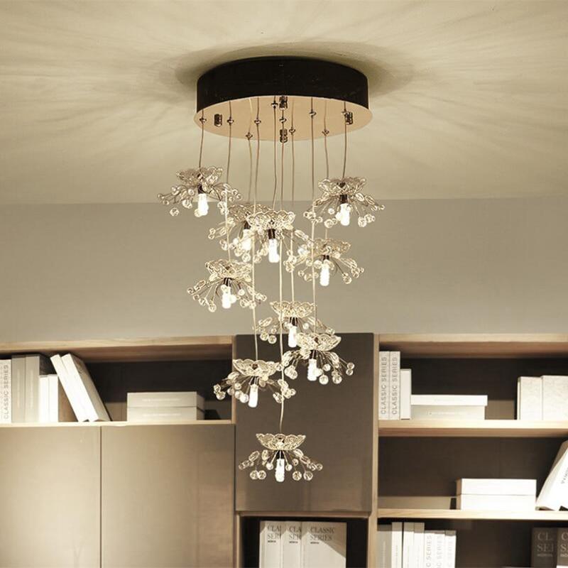 Jmmxiuz New Rectangular Pendant Lights Modern Lamp Ac110v: Jmmxiuz Fancy Design Chandelier Crystal Lighting Modern