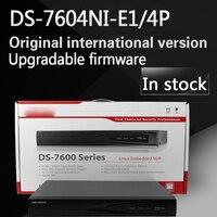 Freies verschiffen auf lager Englisch version DS-7604NI-E1/4 P 4CH POE NVR 1 SATA und 4 POE-ports, H.264 Embedded Plug & Play NVR POE