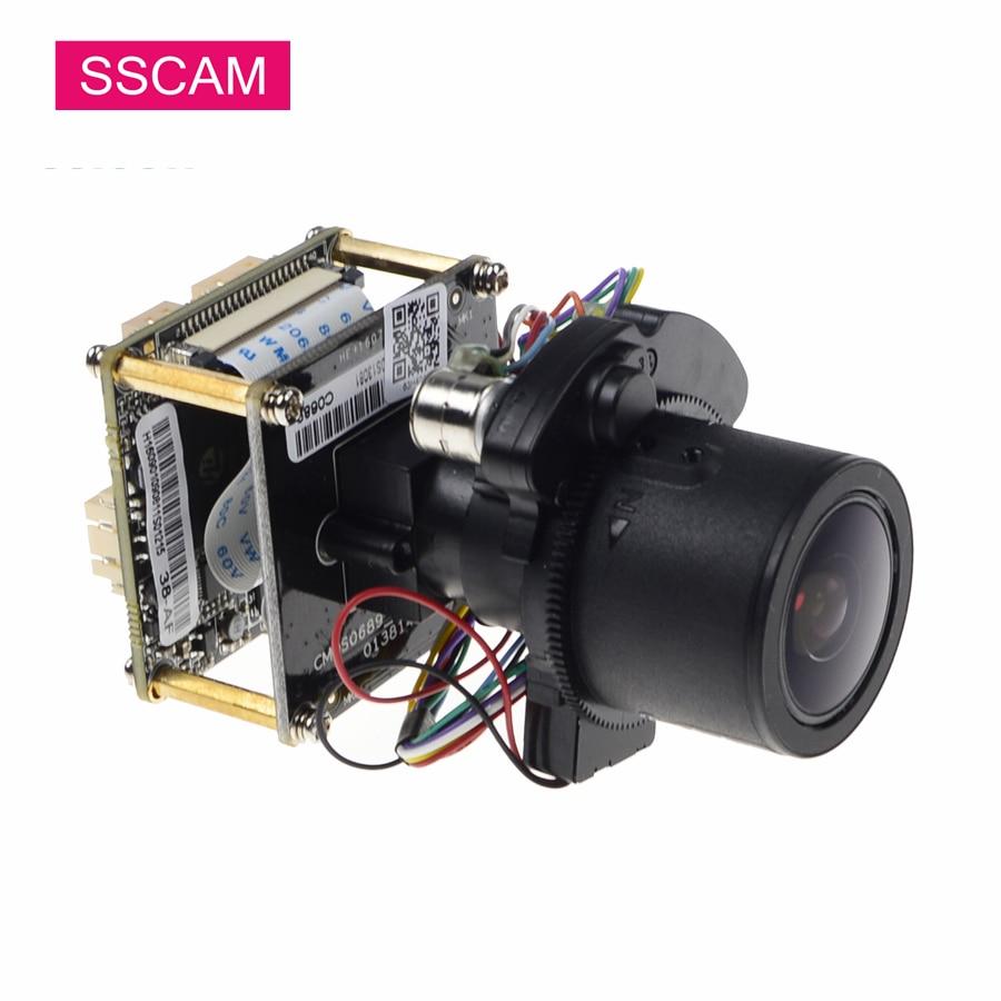 4MP Varifocal IP ONVIF Camera Module High Resolution Hi3518D+OV4689 4x Zoom Motorized Aotu Focus ONVIF P2P XMEye IP Camera Board