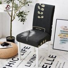 Parkshin moda folha estiramento elástico cadeira cobre elastano para casamento sala de jantar escritório banquete housse de chaise cadeira capa