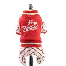 Dog Pet Jumpsuit Autumn Dog Clothes Quality Overalls Print Pattern Pet Costume Teddy Puppy Apparel XS S M L XL 2XL цена
