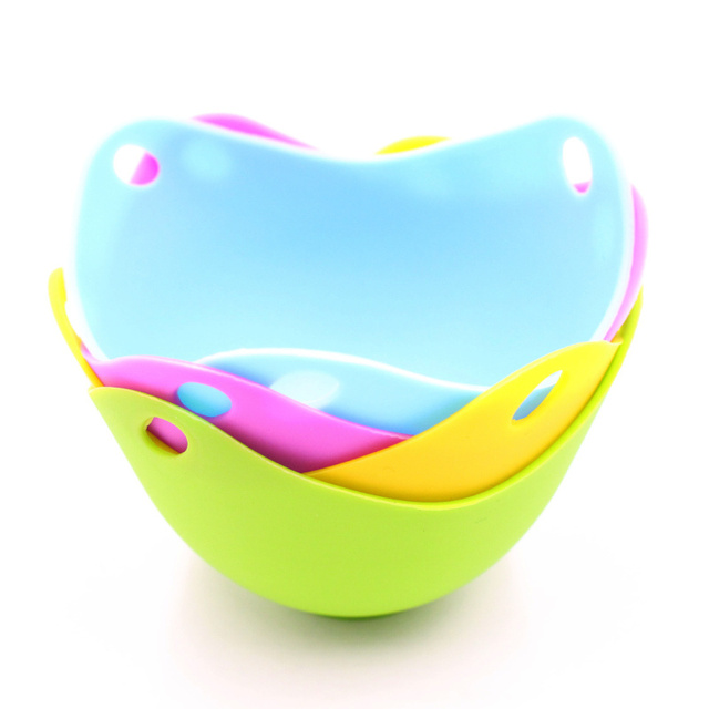 2Pcs/Lot Silicone Egg Poaching Pods Egg Mold Bowl Rings Cooker Boiler Cooked Hard Egg Kitchen Cooking Tools Pancake Maker Eggs