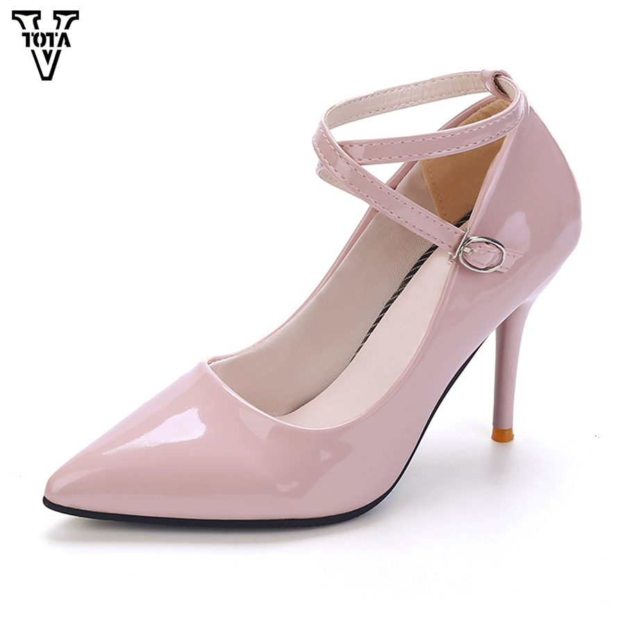 VTOTA New Women's Shoes Pointed Toe Pumps Women Sexy Shoes Woman Thin Heels High Heels 9.5CM Wedding Ladies Shoes vtota 2017 autumn shoes woman women s high heels sexy women pumps bride party thin heel pointed toe comfortable zapatos mujer