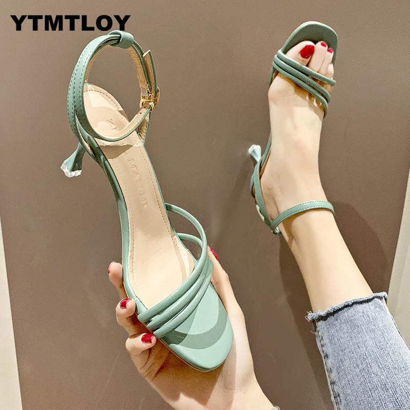 High Heels Shoes Sexy Women Pumps Wedding Summer Ladies Female Fashion Open Toe Sandals Stiletto Luxury Party   Ankle Strap