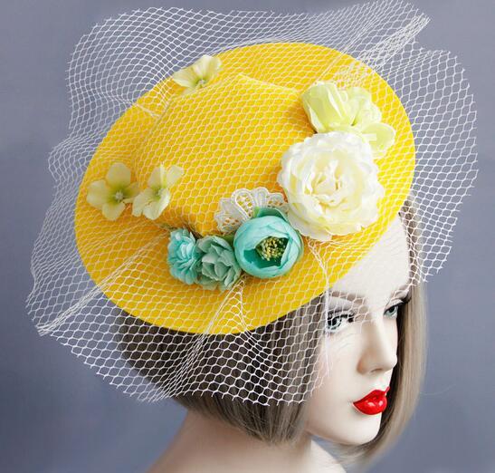 fashion women vintage floral hair