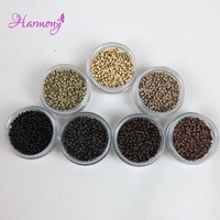 1000pcs Jar Blonde Color 2 5mm Copper NANO Micro Ring Beads Hair Extensions For Nano Ring