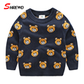 Warm Sweater Children 2016 New Autumn Fashion Cartoon Bear Sweater For Kids Long Sleeve Cute Casual Kids Clothes Boys 4211W