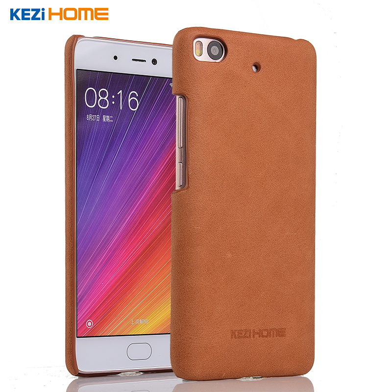 Xiaomi mi5S case KEZiHOME Frosted Genuine Leather Back Cover capa For Xiaomi 5s mi 5s mi5s 5.15'' Phone Protector cases coque