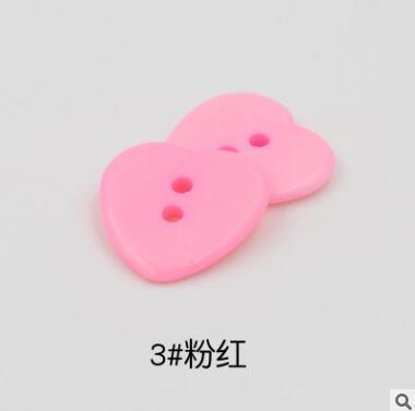 Красивые 1 лот = 100 шт полимерные кнопки в форме сердца 2 отверстия пластиковые кнопки Швейные аксессуары для одежды DIY для детской одежды кнопка мешок - Цвет: 3-pink