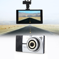 5 Android 4.4.2 Quad core Car DVR GPS Navigation Wifi Parking Rearview Mirror recorder Dual cameras Dash Cam with Free map