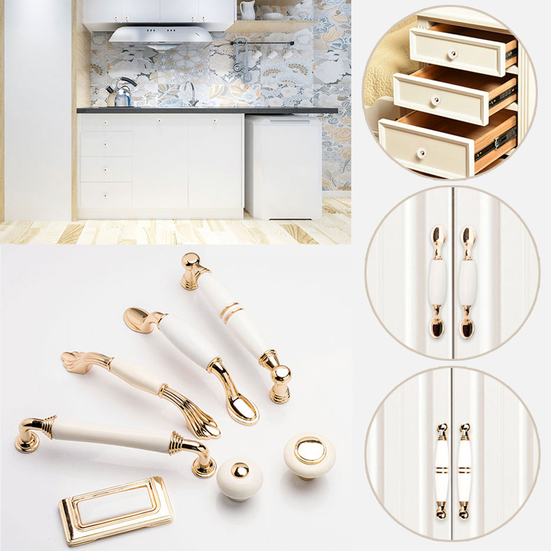 Practical 2019 New European Style Ceramic Drawer Handles Home Hotel Cupboard Wardrobe Handles Furniture Accessories 7a3006 Furniture