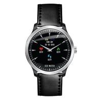 N58 ECG Smart Watch Heart Rate Sleep Monitor 3D UI Multi sport Fitness Tracker Waterproof Leather Strap Smart Wristwatch