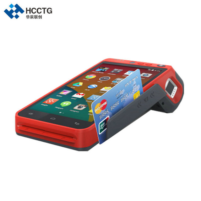 5.5 Inch 3G/4G/WIFI NFC Touch Screen Handheld Fingerprint Edc Android POS Terminal With Printer HCC Z100