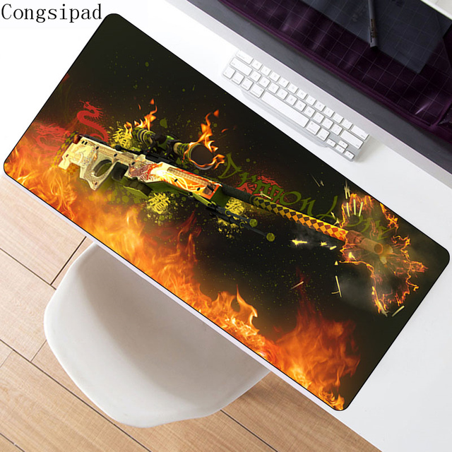 CS GO AWP Dragon Lore Rubber Mouse pad Locked Edge Computer