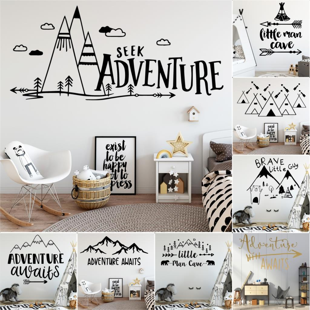 Wall Stickers Be Brave Gym Office Cool Living Room Adventure Art Decals Vinyl Ho Children S Bedroom Child Decor Decals Stickers Vinyl Art Decor Decals Stickers Vinyl Art