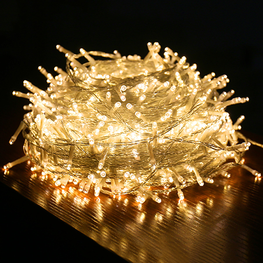 Thrisdar 100M 1000 LED Christmas LED String Light Outdoor Wedding Party Holiday Fairy Light Garden Backyard Fairy Garland Light
