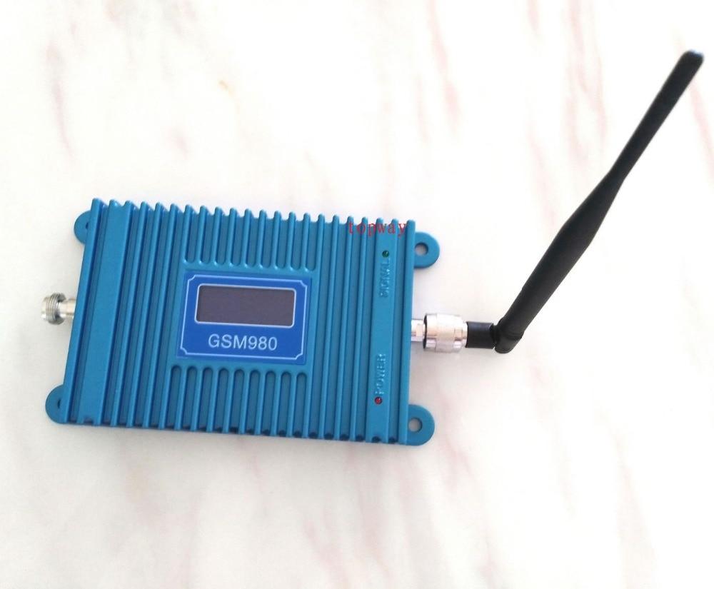 Amplificateur de répéteur de signal GSM980 de propulseur de signal de GSM de téléphone portable avec l'adaptateur de puissance d'antenne d'intérieur d'affichage à cristaux liquides