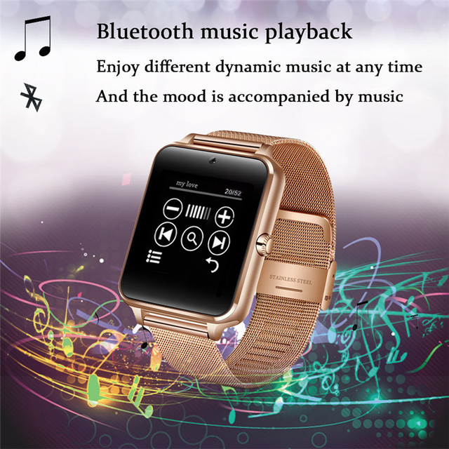 Men Smart Watch Z60 | Clock Sync Notifier | Support Sim Card | Bluetooth Connectivity for iOS & Android GT08 2019