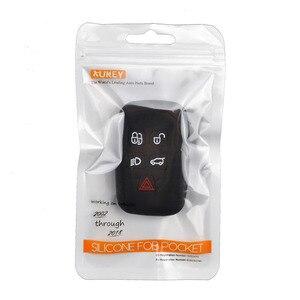 Image 5 - 5 כפתור סיליקון רכב מרחוק מפתח Fob מעטפת כיסוי מקרה עבור לנד רובר ריינג רובר ספורט ווג Evoque גילוי 4