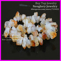 Rough Quartz Citrine Nugget Beads Natural Raw Crystal Druzy Crystal Quartz Point Stick Chip Gems Loose Beads