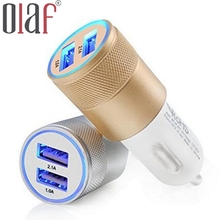 Universal 2 1A Car Charger 2 Port Mini Dual USB Car Charger Adapter for ipone5 5s