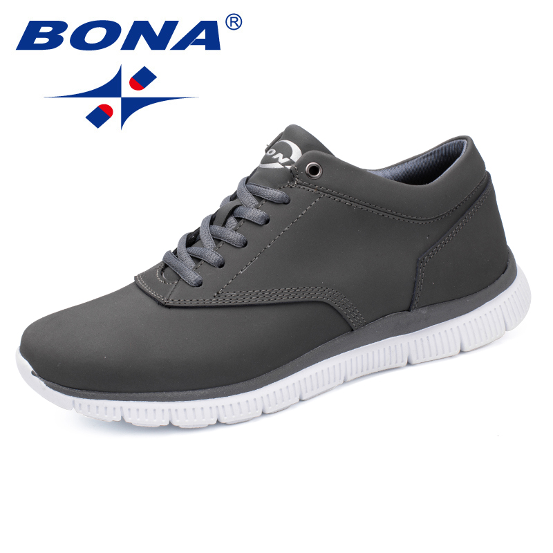 BONA New Arrival Classics Style Men Walking Shoes Lace Up Male Athletic Shoes Leather Youth Sneakers Outdoor Men Sneakers Shoes women black silver multicolor crystal evening bag clutch minaudiere wedding party cocktail handbag and purse crossbody bags lady
