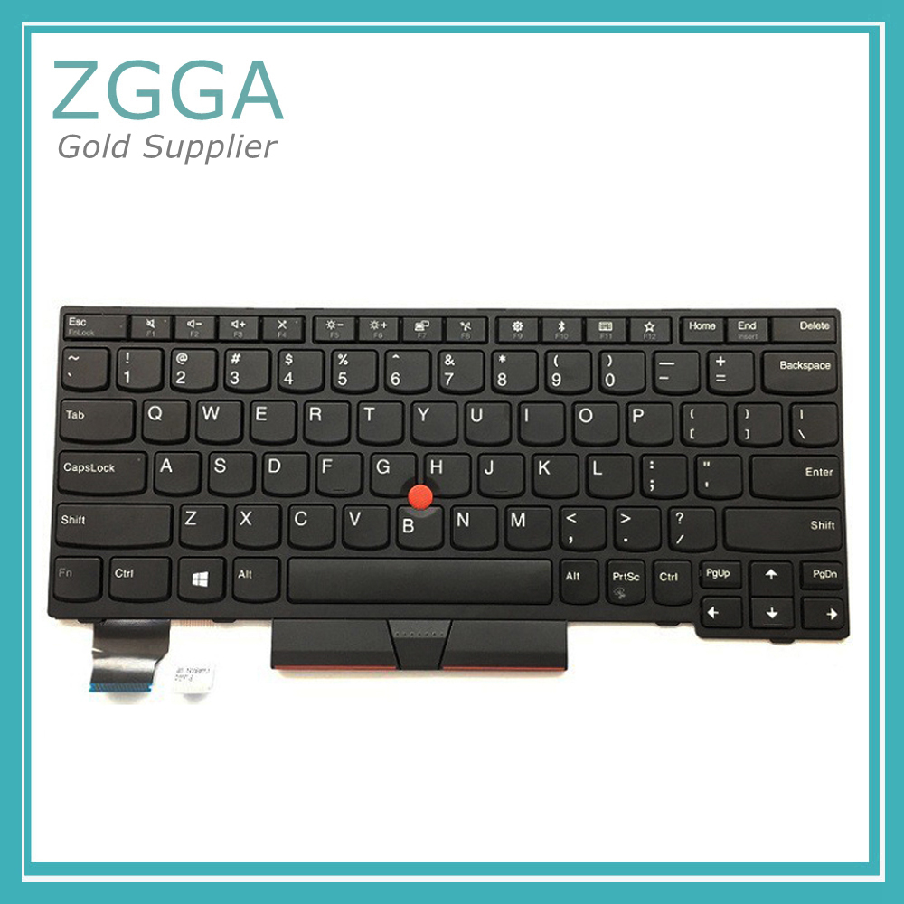 New For Lenovo Thinkpad E480 T480S L480 L380 Laptop US keyboard NO Backlight With Trackpoint 01YP360 01YP520 01YP080 new original for thinkpad t480s e480 l380 l380 yoga backlit keyboard us english backlight 01yn420 sn20p34962 01yn340 01yp360