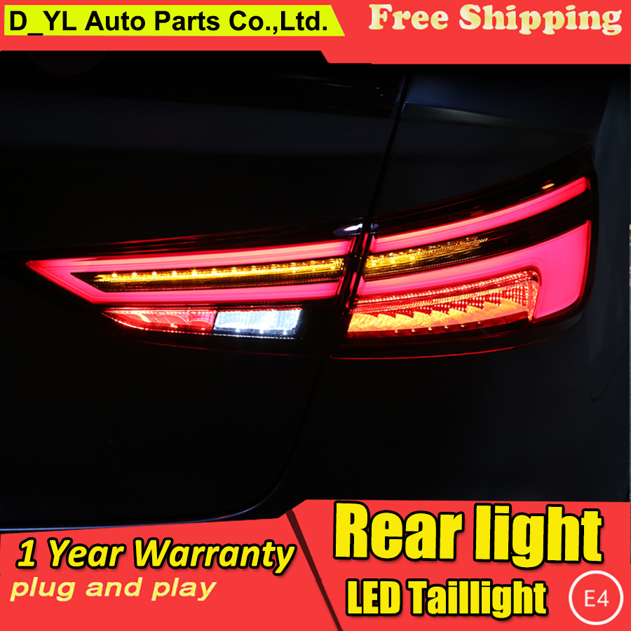 Car Styling for Audi A3 taillights 2014 2018 LED Dynamic Turn signal led rear lights DRL