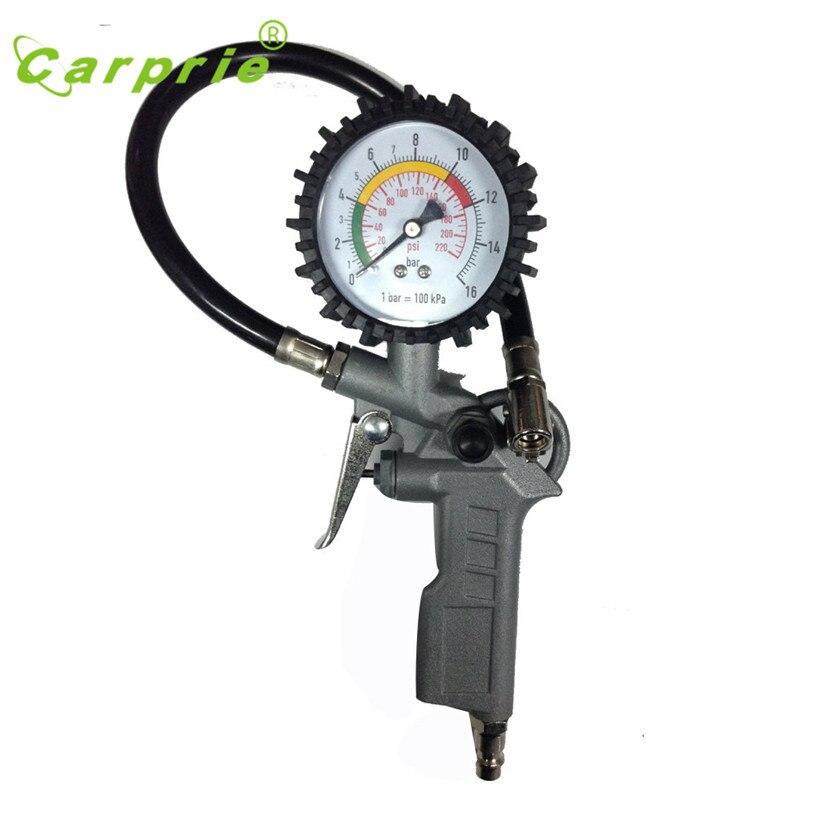 Prix pour Dropship CARPRIE Vente Chaude 220PSI Auto Voiture Vélo Tire Gauge Pressure Meter Air Gonfleur Flexible Tuyau Cadeau Peut 12