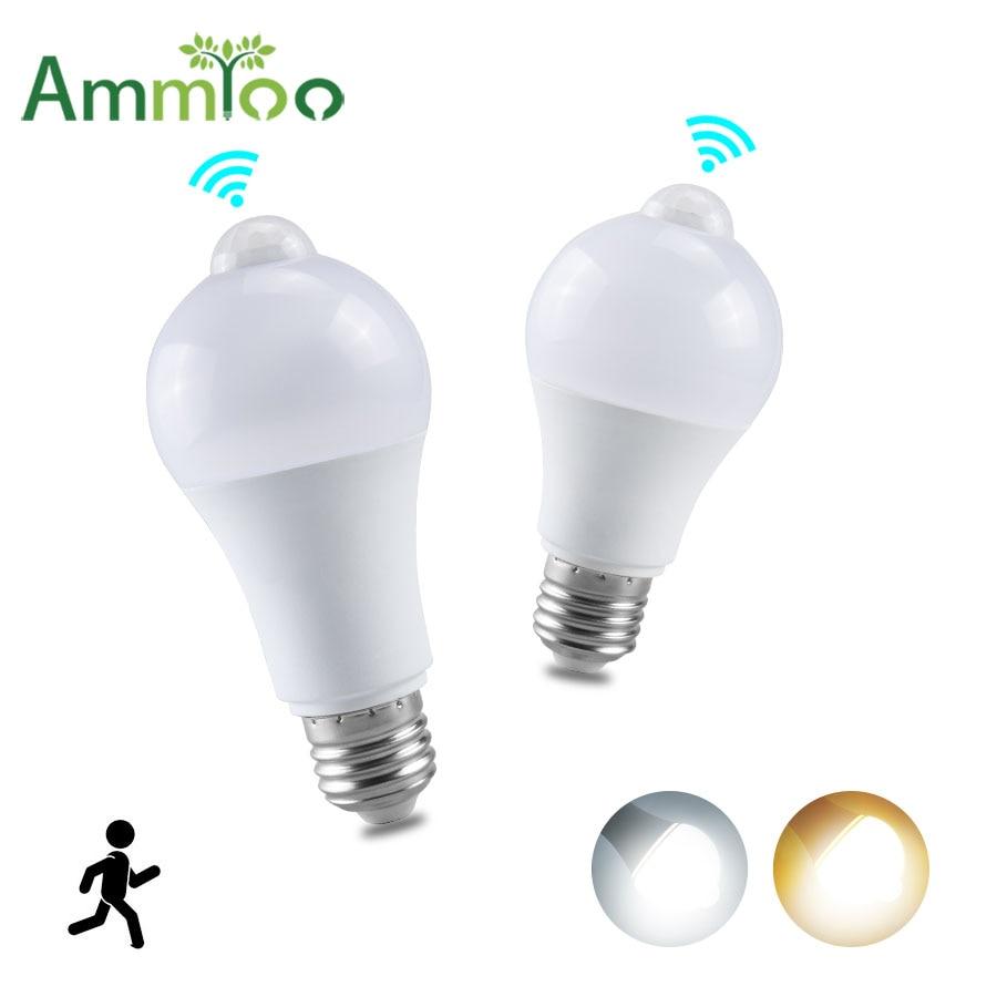 Ac 85 265v Pir Sensor Bulb E27 B22 12w 18w 220v 110v Dusk To Dawn Light Bulb Day Night Light Motion Sensor Lamp Home Led Bulbs