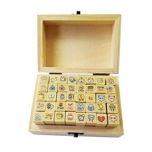 40 шт./компл., новые милые деревянные марки с мультяшными кошками для подарков, прозрачные резиновые марки