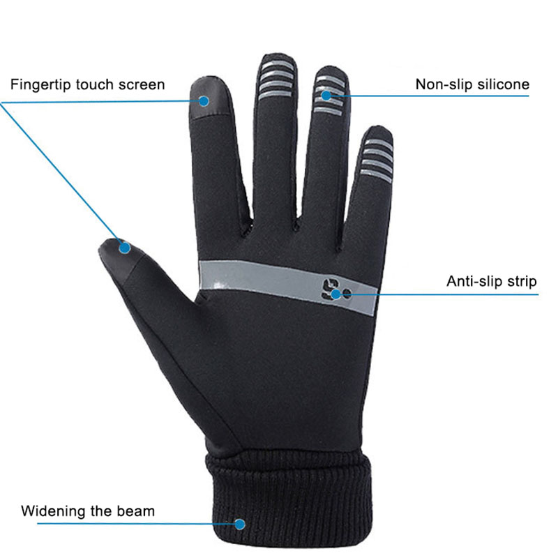 1 Pair Unisex Winter TouchScreen Gloves Soft Liner Thermal Walking Sports Running Mittens TS95