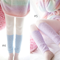 Women Homewear Pants Flannel Ice Cream Keep Warm Soft Trousers Pajamas Women And Girls