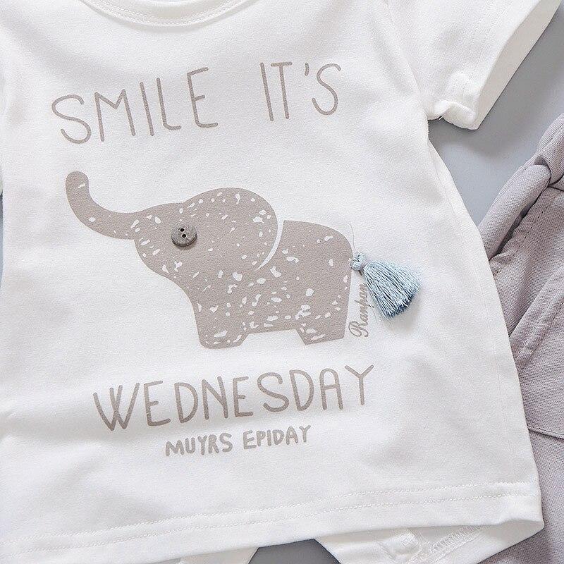 Pasgeboren baby boy kleding zomer kinderkleding korte mouwen t-shirts - Babykleding - Foto 4